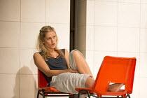 Denise Gough (Emma) in PEOPLE, PLACES AND THINGS by Duncan Macmillan opening at Wyndham's Theatre, London WC2 on 23/03/2016   a National Theatre and Headlong 2015 production set design: Bunny Christi...