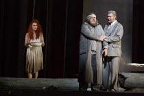 PARSIFAL   by Wagner   conductor: Antonio Pappano   design: Alison Chitty   lighting: Paul Pyant   director: Stephen Langridge   Act 3 - l-r:: Angela Denoke (Kundry), Simon O'Neill (Parsifal), Rene Pa...