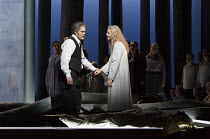 PARSIFAL   by Wagner   conductor: Antonio Pappano   design: Alison Chitty   lighting: Paul Pyant   director: Stephen Langridge   Act 3: Gerald Finley (Amfortas), Angela Denoke (Kundry) THIS PHOTOGRAPH...