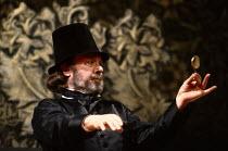 TWELFTH NIGHT by Shakespeare design: Ultz lighting: Mick Hughes director: Griff Rhys Jones ~~Freddie Jones (Malvolio)~Royal Shakespeare Company (RSC), Royal Shakespeare Theatre, Stratford-upon-Avon, E...