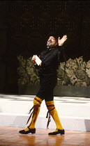 TWELFTH NIGHT by Shakespeare design: Ultz lighting: Mick Hughes director: Griff Rhys Jones Freddie Jones (Malvolio)Royal Shakespeare Company (RSC), Royal Shakespeare Theatre, Stratford-upon-Avon, Engl...