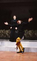 TWELFTH NIGHT by Shakespeare design: Ultz lighting: Mick Hughes director: Griff Rhys Jones Freddie Jones (Malvolio), Linda Marlowe (Maria)Royal Shakespeare Company (RSC), Royal Shakespeare Theatre, St...