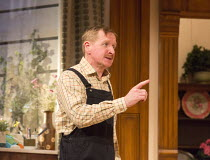 Matthew Cottle (William Featherstone) in HOW THE OTHER HALF LOVES by Alan Ayckbourn opening at the Theatre Royal Haymarket, London SW1 on 31/03/2016 design: Julie Godfrey lighting: Jason Taylor direct...