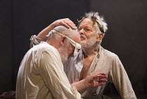 l-r: Pip Donaghy (Gloucester), Michael Pennington (King Lear) in KING LEAR by Shakespeare opening at the Theatre Royal, Royal & Derngate, Northampton on 05/04/2016  in association with Ambassador Thea...