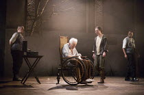 centre: Michael Pennington (King Lear), Beth Cooke (Cordelia) in KING LEAR by Shakespeare opening at the Theatre Royal, Royal & Derngate, Northampton on 05/04/2016  in association with Ambassador Thea...