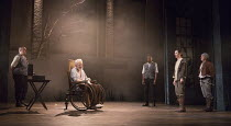 front left: Michael Pennington (King Lear) right: Beth Cooke (Cordelia) in KING LEAR by Shakespeare opening at the Theatre Royal, Royal & Derngate, Northampton on 05/04/2016  in association with Ambas...