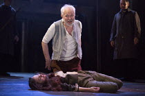 Michael Pennington (King Lear), Beth Cooke (Cordelia - dead) in KING LEAR by Shakespeare opening at the Theatre Royal, Royal & Derngate, Northampton on 05/04/2016  in association with Ambassador Theat...