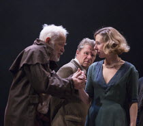 l-r: Michael Pennington (King Lear), Shane Attwooll (Cornwall), Sally Scott (Regan) in KING LEAR by Shakespeare opening at the Theatre Royal, Royal & Derngate, Northampton on 05/04/2016  in associatio...