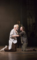 Michael Pennington (King Lear), Beth Cooke (Cordelia) in KING LEAR by Shakespeare opening at the Theatre Royal, Royal & Derngate, Northampton on 05/04/2016  in association with Ambassador Theatre Grou...