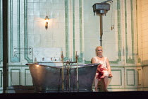 Act 3, scene 3: Diana Damrau (Lucia) in LUCIA DI LAMMERMOOR music by Donizetti opening at The Royal Opera House, Covent Garden, London WC2 on 07/04/2016 libretto: Cammarano conductor: Daniel Oren desi...