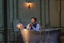 Act 3, scene 3 - Edgardo finds Lucia dead: Diana Damrau (Lucia), Charles Castronovo (Edgardo Ravenswood) in LUCIA DI LAMMERMOOR music by Donizetti opening at The Royal Opera House, Covent Garden, Lond...
