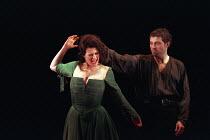 MACBETH by Shakespeare set design: Jeremy Herbert costumes: Laura Hopkins lighting: Rick Fisher director: John Crowley Sally Dexter (Lady Macbeth), Rufus Sewell (Macbeth)Queen's Theatre, London W1  03...
