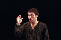 MACBETH by Shakespeare set design: Jeremy Herbert costumes: Laura Hopkins lighting: Rick Fisher director: John Crowley ~Rufus Sewell (Macbeth)~Queen's Theatre, London W1  03/03/1999