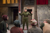 re-educating the peasants: Louise Mai Newberry (Tang) in THE SUGAR-COATED BULLETS OF THE BOURGEOISIE by Anders Lustgarten opening at the Arcola Theatre, London E8 on 12/04/2016   co-production with Hi...
