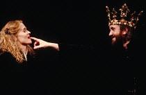 MACBETH  by Shakespeare   design: Bob Crowley   lighting: Mark Henderson   director: Adrian Noble ~Sinead Cusack (Lady Macbeth), Jonathan Pryce (Macbeth)~Royal Shakespeare Company (RSC), Royal Shakesp...