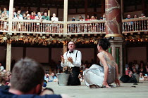 MACBETH by Shakespeare design: Laura Hopkins Master of Play (director): Tim Carroll ~Jasper Britton (Macbeth), Eve Best (Lady Macbeth) ~Shakespeare's Globe (SG), London SE1  05/06/2001...