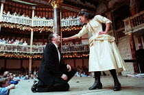 MACBETH by Shakespeare design: Laura Hopkins Master of Play (director): Tim Carroll Jasper Britton (Macbeth), Liza Hayden (Weird Sister)Shakespeare's Globe (SG), London SE1  05/06/2001...