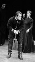 MACBETH   by Shakespeare    design: John Napier   lighting: Leo Leibovici   director: Trevor Nunn ~Ian McKellen (Macbeth, foaming at the mouth), Judi Dench (Lady Macbeth) ~Royal Shakespeare Company (R...