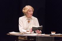 Geraldine James (Charlotte Shaw) in LAWRENCE AFTER ARABIA by Howard Brenton opening at Hampstead Theatre (HT), London NW3 on 05/05/2016   design: Michael Taylor lighting: Mark Doubleday director: John...
