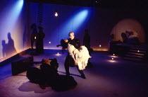 ROMEO AND JULIET by Shakespeare - adapted & directed by Rina Yerushalmi set design: Moshe Sternfeld costumes: Rakefet Levi lighting: Avi-Yona Bouneo the lovers die: Tchernovitz Gil (Romeo), Wolpe Iyar...