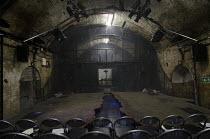 ORPHEUS & EURYDICE   writer: Molly Davies   composer: James Johnston   design: James Button   lighting: Richard Howell   director: James Dacre   stage   acting area   seats   lights   arch   vault Nat...