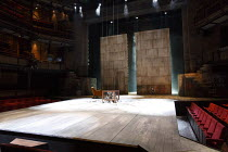 CYMBELINE by Shakespeare design: Anna Fleischle lighting: Philip Gladwell director: Melly Still stage,set,full,empty,auditorium,seats,seating,balconyRoyal Shakespeare Company (RSC) / Royal Shakespeare...