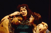 ANTONY AND CLEOPATRA by Shakespeare design: Sue Blane lighting: David Hersey director: John Caird l-r: Claire Benedict (Charmian), Clare Higgins (Cleopatra), Susie Lee Hayward (Iras)Royal Shakespeare...