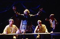 ANTONY AND CLEOPATRA by Shakespeare design: Sue Blane lighting: David Hersey director: John Caird left: John Nettles (Octavius Caesar) centre: Richard Johnson (Antony)Royal Shakespeare Company (RSC),...