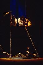 ANTONY AND CLEOPATRA by Shakespeare design: Sue Blane lighting: David Hersey director: John Caird top, l-r: Nick Holder (Mardian), Susie Lee Hayward (Iras), Clare Higgins (Cleopatra), Claire Benedict...