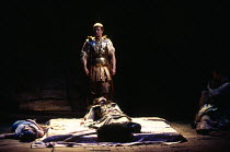 ANTONY AND CLEOPATRA by Shakespeare design: Sue Blane lighting: David Hersey director: John Caird Octavius Caesar stumbles upon a scene of death:  - l-r: Susie Lee Hayward (Iras), Clare Higgins (Cleop...