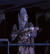 opening scene: Sarah Connolly (Jocaste, with the infant Oedipe) in OEDIPE by George Enescu opening at the The Royal Opera, Covent Garden, London WC2 on 23/05/2016 libretto: Admond Fleg after Sophocles...