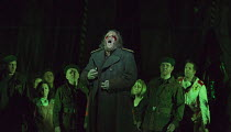 blinded: Johan Reuter (Oedipe) in OEDIPE by George Enescu opening at the The Royal Opera, Covent Garden, London WC2 on 23/05/2016 libretto: Admond Fleg after Sophocles conductor: Leo Hussain set desig...