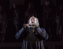 sight restored: Johan Reuter (Oedipe) in OEDIPE by George Enescu opening at the The Royal Opera, Covent Garden, London WC2 on 23/05/2016 libretto: Admond Fleg after Sophocles conductor: Leo Hussain se...