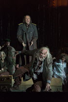 (front) John Tomlinson (Tiresias), Johan Reuter (Oedipe) in OEDIPE by George Enescu opening at the The Royal Opera, Covent Garden, London WC2 on 23/05/2016 libretto: Admond Fleg after Sophocles conduc...