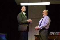 l-r: Steve John Shepherd (MP), Bruce Alexander (Chief Whip) in HOW TO GET AHEAD IN POLITICS  by Stella Feehily opening at the Arts Theatre, London WC2 on 24/05/2016   one of 5 political satires in A V...