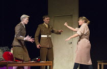 l-r: Jane Wymark (Eleanor), Joseph Prowen (Ollie), Sarah Alexander (Hayley Morrison) in THE MOTHER by Mark Ravenhill opening at the Arts Theatre, London WC2 on 24/05/2016 one of 5 political satires in...