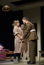 l-r: Sarah Alexander (Hayley Morrison), Jane Wymark (Eleanor), Joseph Prowen (Ollie) in THE MOTHER by Mark Ravenhill opening at the Arts Theatre, London WC2 on 24/05/2016 one of 5 political satires in...