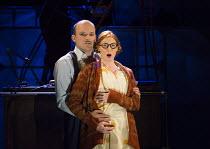 Rory Kinnear (Captain Macheath / Mack the Knife), Rosalie Craig (Polly Peachum) in THE THREEPENNY OPERA by Bertolt Brecht & Kurt Weill opening at the Olivier Theatre, National Theatre, London SE1 on 2...