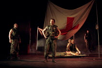 HENRY V   by Shakespeare   design: Ashley Martin-Davies   lighting: Peter Mumford   director: Ron Daniels      after the battle: Michael Sheen (King Henry V) Royal Shakespeare Company (RSC) / Royal...