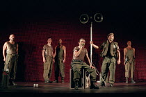 HENRY V   by Shakespeare   design: Ashley Martin-Davies   lighting: Peter Mumford   director: Ron Daniels      III/iii - outside Harfleur, calling on the French to surrender: Michael Sheen (King Hen...