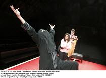 SHADES   by Alia Bano   design: Lucy Osborne   lighting: Matt Drury   director: Nina Raine   l-r: Navin Chowdhry (Zain), Stephanie Street (Sabrina), Matthew Needham (Mark) Jerwood Theatre Upstairs / R...