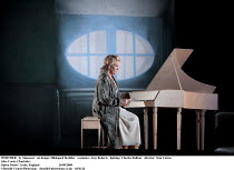 WERTHER   by Massenet   set design: Hildegard Bechtler   costumes: Amy Roberts   lighting: Charles Balfour   director: Tom Cairns   Alice Coote (Charlotte)    Opera North / Leeds, England...