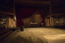 THE ALCHEMIST by Ben Jonson design: Helen Goddard lighting: Charles Balfour director: Polly Findlay   stage,set,full,empty,period,props,curtain,drape,candelabra,bust,backcloth,thrust,seats,seating,aud...