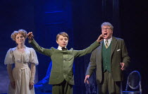 l-r: Gemma Sutton (Marian), William Thompson (young Leo), Michael Crawford (Leo Colston) in THE GO-BETWEEN opening at the Apollo Theatre, London W1 on 07/06/2016     music & lyrics: Richard Taylor boo...