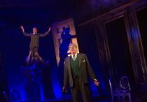 Michael Crawford (Leo Colston) with (top left) William Thompson (young Leo) THE GO-BETWEEN opening at the Apollo Theatre, London W1 on 07/06/2016     music & lyrics: Richard Taylor book & lyrics: Davi...