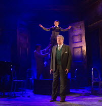 Michael Crawford (Leo Colston) with William Thompson (young Leo) in THE GO-BETWEEN opening at the Apollo Theatre, London W1 on 07/06/2016     music & lyrics: Richard Taylor book & lyrics: David Wood a...
