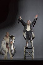 Act 3 - l-r: Stuart Skelton (Tristan), Craig Colclough (Kurwenal) in TRISTAN AND ISOLDE by Wagner opening at English National Opera (ENO), London Coliseum WC2 on 09/06/2016  English translation by And...