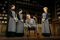l-r: Naomi Frederick (Maggie Hobson), Gabrielle Dempsey (Vickey Hobson), Martin Shaw (Henry Horatio Hobson ), Florence Hall (Alice Hobson) in HOBSON'S CHOICE by Harold Brighouse opening at the Vaudevi...