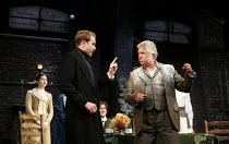 front, l-r: Joe Bannister (Albert Prosser), Martin Shaw (Henry Horatio Hobson) in HOBSON'S CHOICE by Harold Brighouse opening at the Vaudeville Theatre, London WC2 on 14/06/2016   a Theatre Royal Bath...