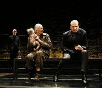 Vanessa Redgrave (Queen Margaret), Ralph Fiennes (Richard, Duke of Gloucester) in RICHARD III by Shakespeare opening at the Almeida Theatre, London N1 on 16/06/2016  set design: Hildegard Bechtler cos...